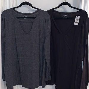 2- LB long sleeve tops